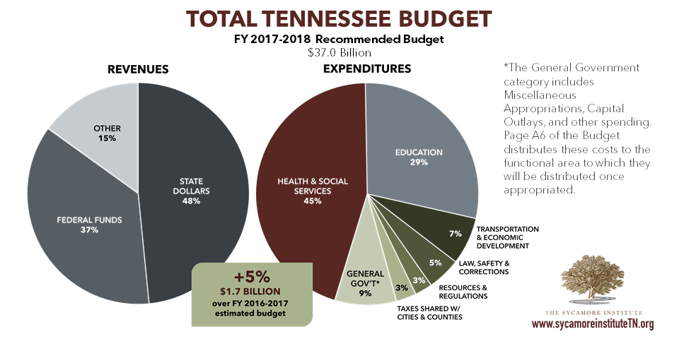 Total Tennessee Budget - FY 2017-2018 Recommendation