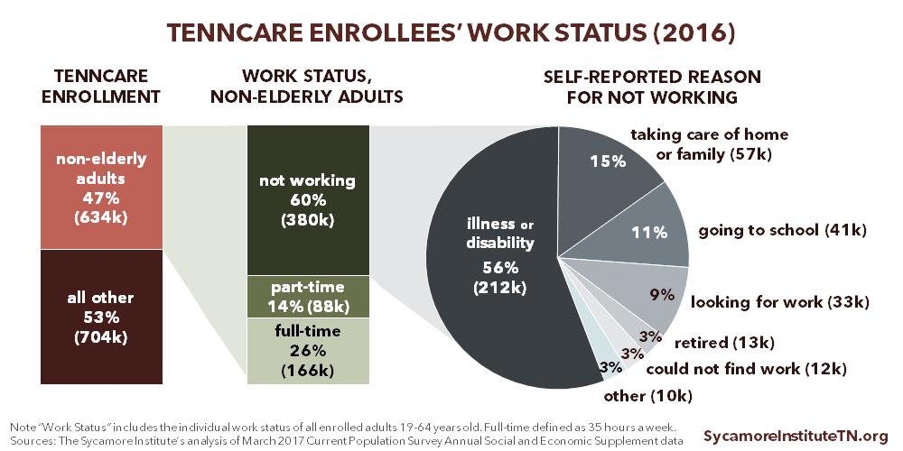 TennCare Enrollees' Work Status (2016)