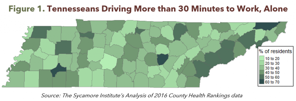 Figure 1. Tennesseans Driving More than 30 Minutes to Work Alone