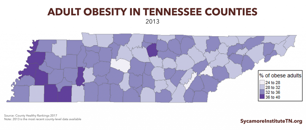 Adult Obesity in Tennessee Counties