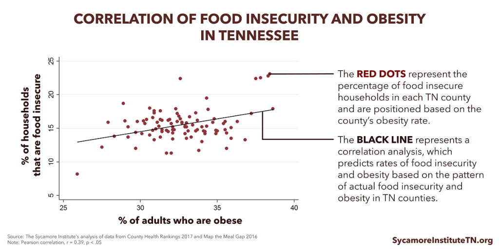 Correlation of Food Insecurity and Obesity in Tennessee