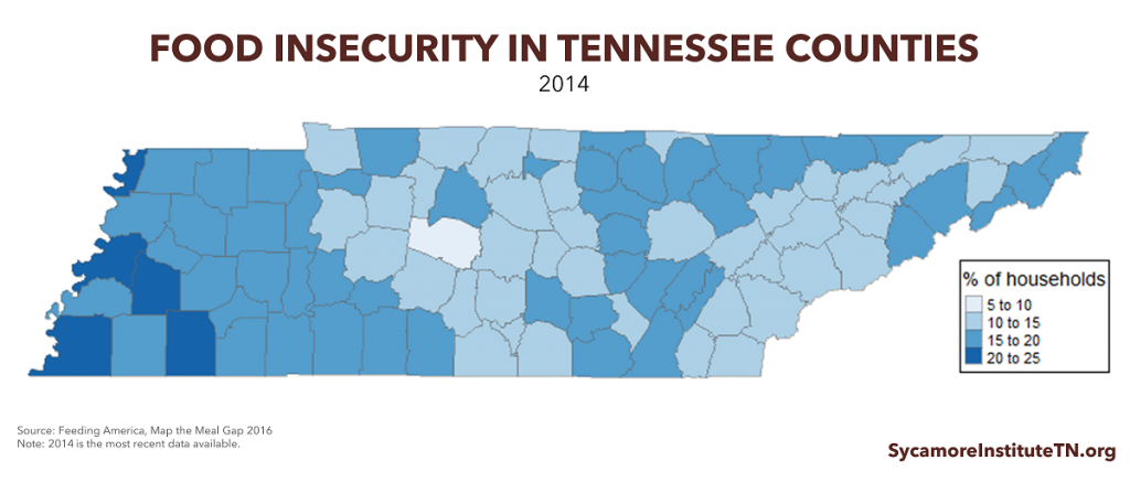 Food Insecurity in Tennessee Counties
