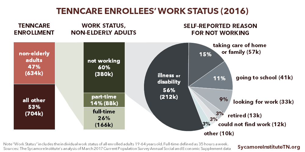 TennCare Enrollees' Work Status (2016)