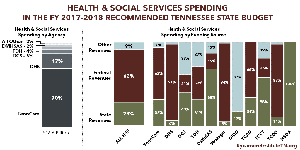 Health & Social Services Spending in the FY 2017-2018 Recommended Tennessee State Budget