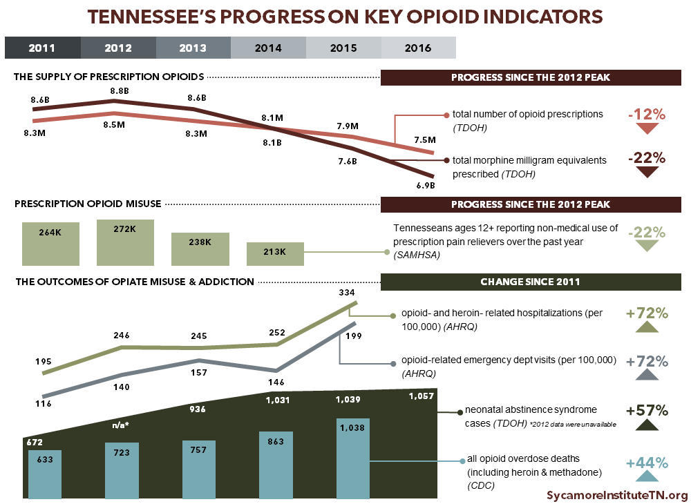 Tennessee's Progress on Key Opioid Indicators