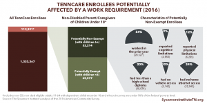 TennCare Enrollees Potentially Affected by a Work Requirement (2016)