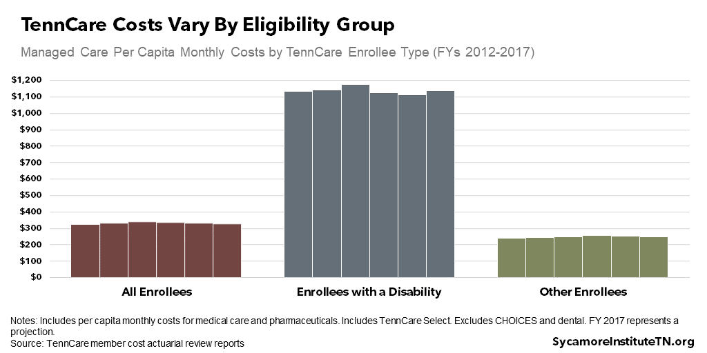 TennCare Costs Vary By Eligibility Group