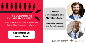 Details of book discussion of The Coddling of the American Mind