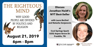 Details of book discussion of The Righteous Mind