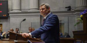 Governor Bill Lee at podium