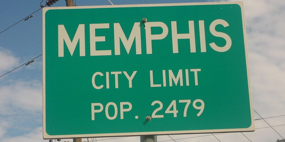 Memphis population sign