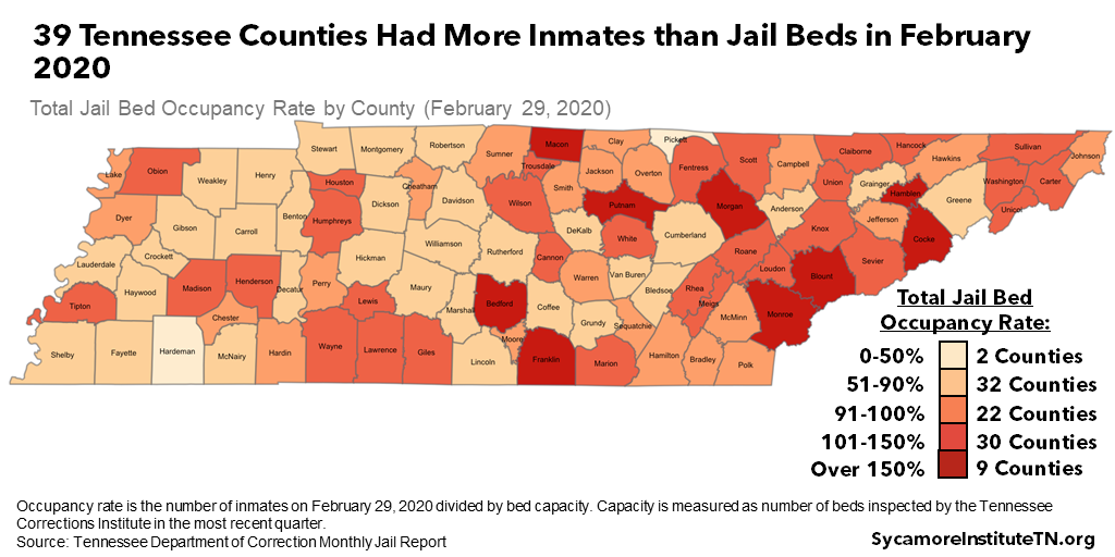39 Tennessee Counties Had More Inmates than Jail Beds in February 2020