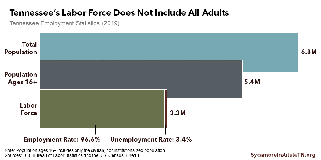 Tennessee's Labor Force Does Not Include All Adults