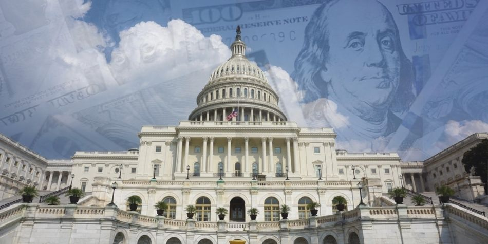 Money in the Air Over U.S. Capitol