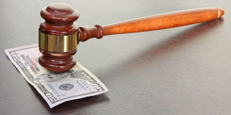 Gavel on $50 Bill