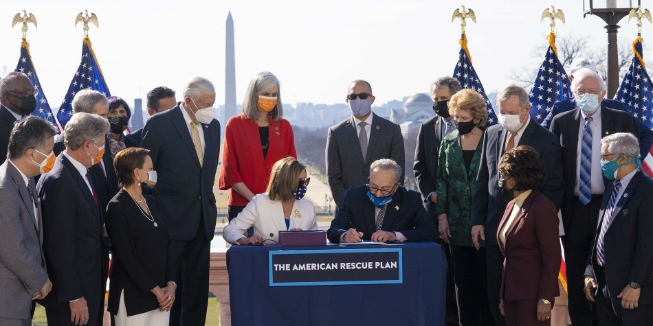 Congressional Democrats ARP Photo Opp